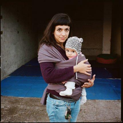 Marilena Ferrara e la figlia Amalia, ex caserma Piave, Treviso