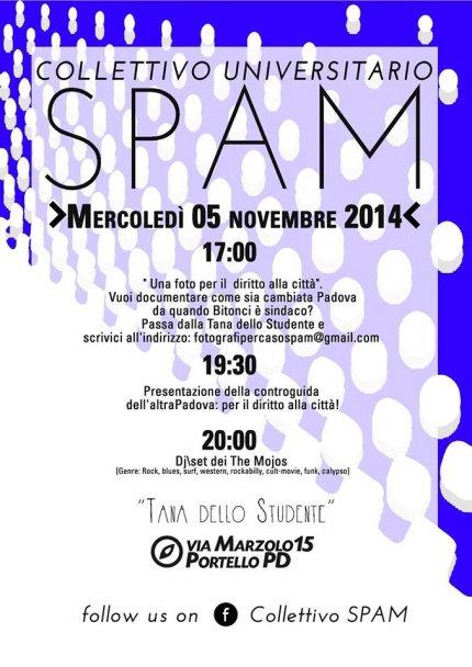 Locandina Tana dello studente del 5 novembre 2014