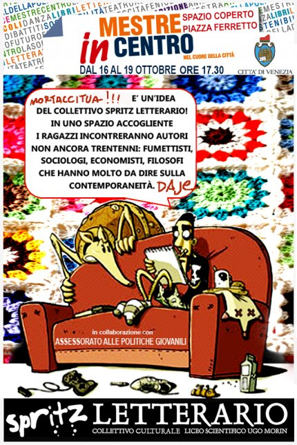 Locandina Zerocalcare a Mestre, 18 ottobre 2013