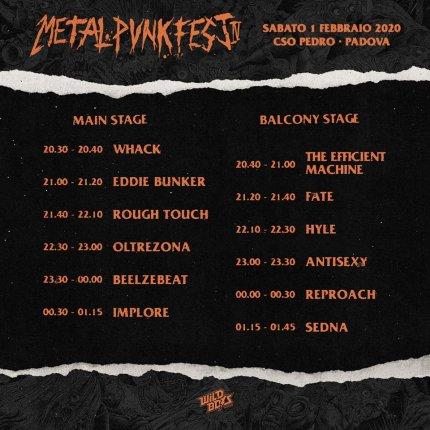 Metal Punk Fest 2020 - orari