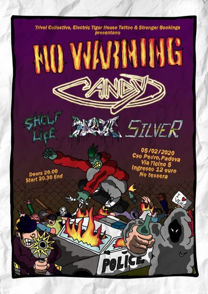 No Warning + Candy al Cso Pedro