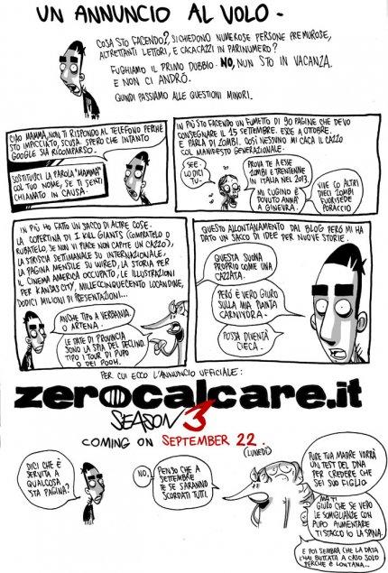 ZeroCalcare: un annuncio al volo