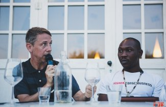 Da sinistra: Gilles Peterson e Seun Kuti (Photo by Umberto Lopez)